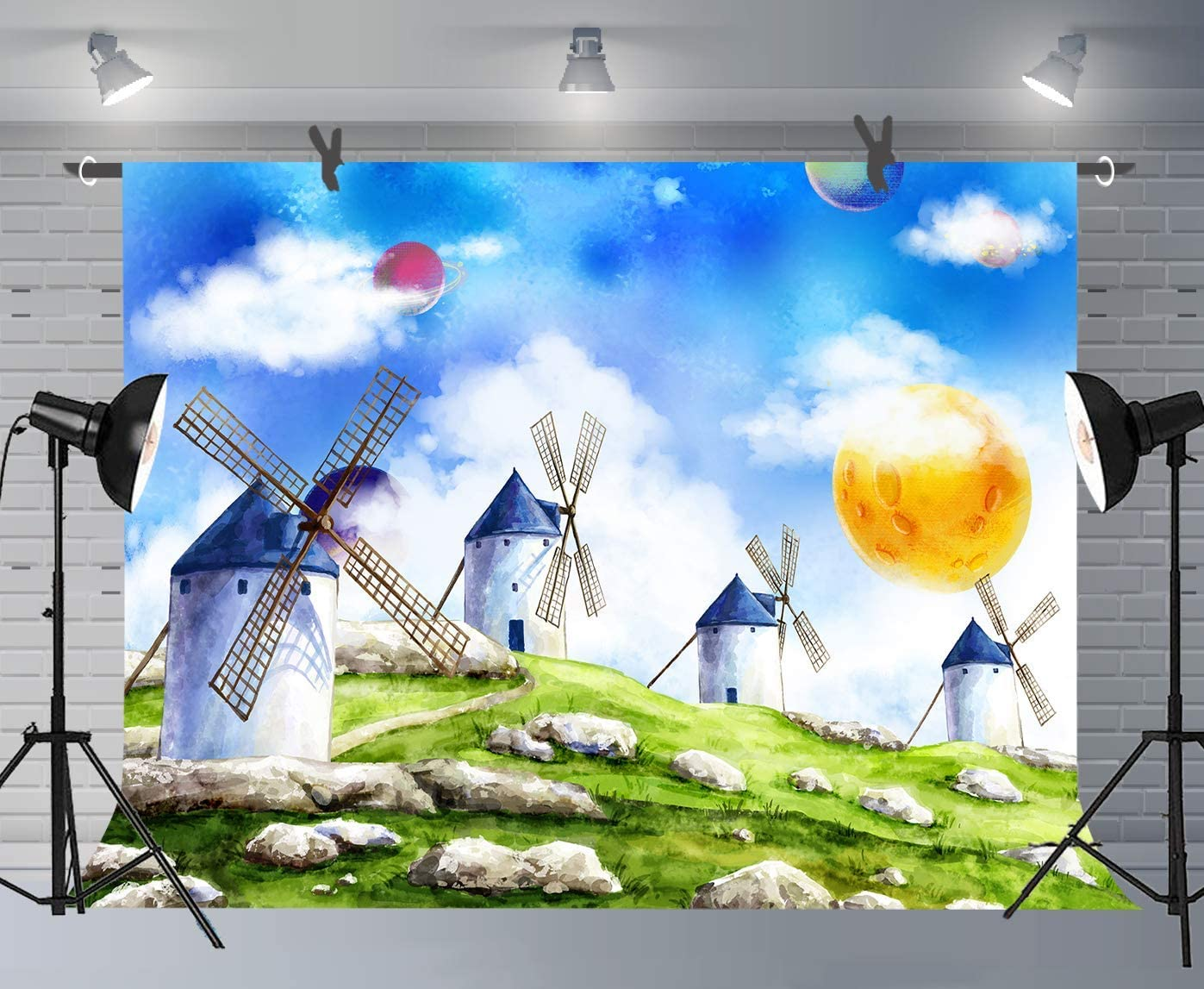 15x10ft Cartoon Water Backdrop Children Party Photography Banner Photo Background Studio Props LHFU372