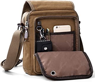 XINCADA Mens Bag Messenger Bag Canvas Shoulder Bags Travel Bag Man Purse  Crossbody Bags for Work 617eef95fce