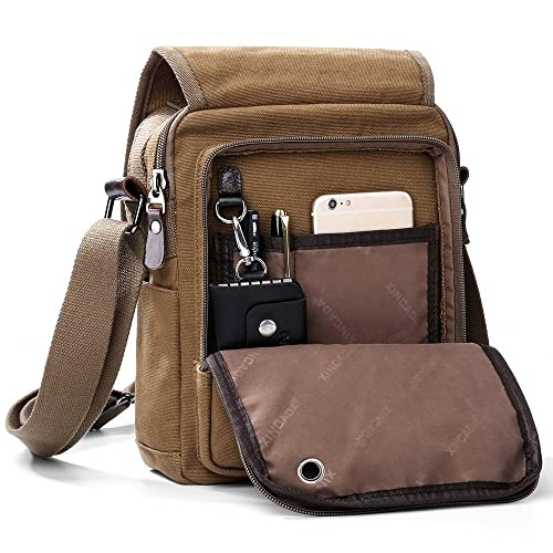 bfde482534 XINCADA Mens Bag Messenger Bag Canvas Shoulder Bags Travel Bag Man Purse  Crossbody Bags for Work