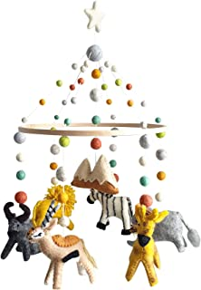 Ceiling Mobile by Tik Tak Design Co - Felt Ball Mobile for Your Boy or Girl Babies Bed Room - 100% NZ Wool - Designer Colors to Match Your Nursery and Delight Your Child