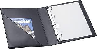 schwarz mit Taschenrechner DIN A4 mit Rei/ßverschluss Kunstleder Sch/önherr Konferenzmappe Seattle