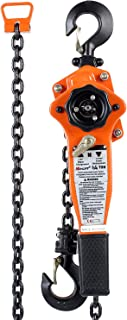 Amarite Manual Lever Chain Hoist, 10 feet Load Chain with 1650lbs Capacity