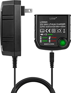 LUSAF 20V Battery Charger LCS1620 Adapter for Black Decker 16V 20V Lithium Ion Battery LBXR20 LBXR20-OPE LB20 LBX20 LBX4020 LB2X4020 LBXR2020-OPE BL1514 LBXR16