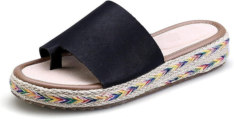 Susanm Women's Toe Post Wedge Sandals Slip On Open Toe Flip Flop shoes Popular