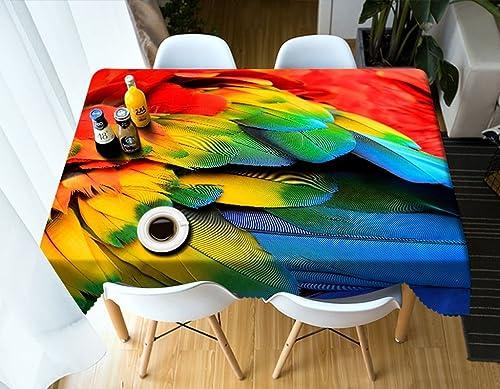 LWF Europ che Tischdecke Rechteckige Tischdecke - 3D personalisierte Tischdecke PG01022 - umweltfreundlich und geschmacklos - Digitaldruck wasserdicht (Größe   Rectangular -228cm396cm)