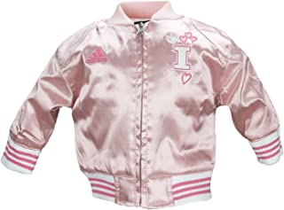 adidas NCAA Girls Infants (0M-24M) and Toddlers (2T-4T) Pink Satin Cheer Jacket, Team Options