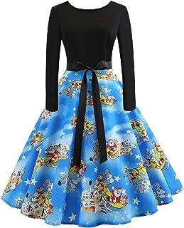 Vintage Cocktail Party Dress 1950s Retro Dresses Floral Print Patchwork Stitched A-line Christmas Dress