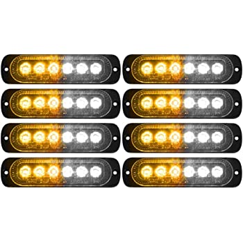 4D34 Bright Emergency Amber Strobe Light 10LED Width Lamp Lorries High-Power