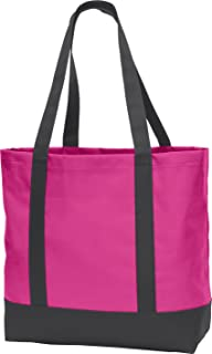 Port Authority Day Tote. BG406 Tropical Pink/ Dark Charcoal One Size