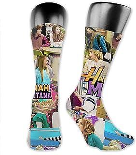 AsakawaKoutarou, Hannah Montana Moda Unisex Estampado Algodón Transpirable Deporte Casual Socks Calcetines Long Calcetines Thick Calcetines