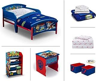 Nick Jr. PAW Patrol Toddler Room Set, 6 Piece (Toddler Bed | Bookcase | Side Table | Bedding Set | Storage Bins | Bonus Sheet Set)