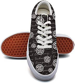 Girl Camouflage Canvas Shoes Straps SIG-Saue-rdyeing-iPhone-Black-Logo- Classic Sneakers Suitable for Walking