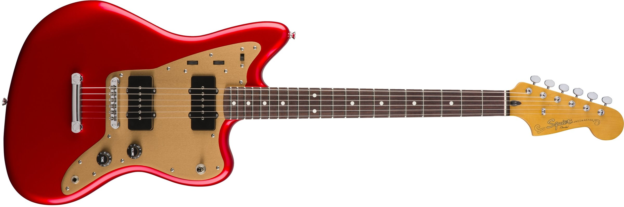 Cheap Squier by Fender Deluxe Jazzmaster Stop-Tail - Candy Apple Red Black Friday & Cyber Monday 2019
