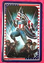 Tin Sign Cartel de chapa 20x 30cm Captain America Marvel Comics dibujos animados super Held Avengers Uniforme de la Guer...