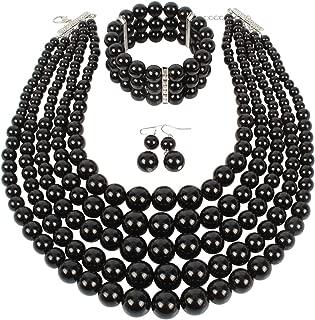 Multi Layer Pearl Strand Costume Jewelry Sets