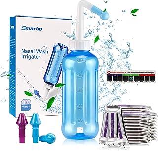 Neti Pot Nasal Rinse Sinus Rinse Nose Cleaner Washing Bottle Cleaner Pressure Rinse Nasal Irrigation 500ML Neti Pot for Ad...