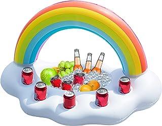 Jasonwell Inflatable Rainbow Cloud Drink Holder Floating Beverage Salad Fruit Serving Bar Pool Float Party Accessories Sum...