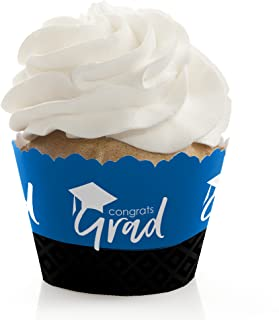 Blue Grad - Best is Yet to Come - Royal Blue Graduation Party Decorations - Party Cupcake Wrappers - Set of 12
