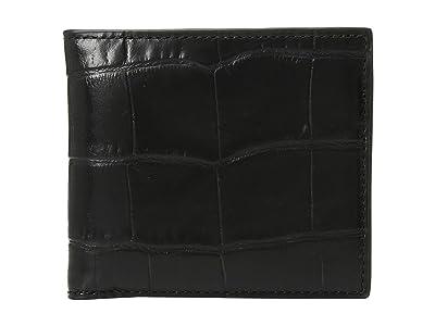 COACH Double Billfold Wallet (Black) Bags