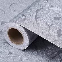 Papel de contacto floral decorativo auto adhesivo caj/ón forro del estante c/áscara extra/íble y papel pintado del palillo para estantes muebles caj/ón decoraci/ón de la pared 45 x 500 cm