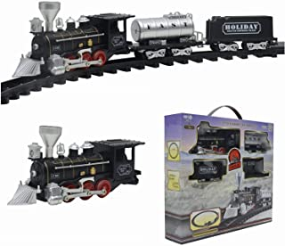 5pcs Train Toy Full Set Classical Simulation Sound Battery Powered Train Set with Track Gift