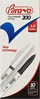علبة أقلام برافو 200 من ساسكو - عدد 10 قلم - أسود