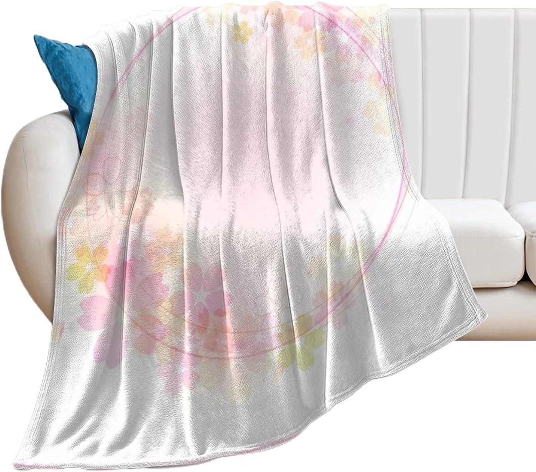 Sakura Background3 Throw Blanket Ultra Light Flannel Elegant Fleece Soft High quality new