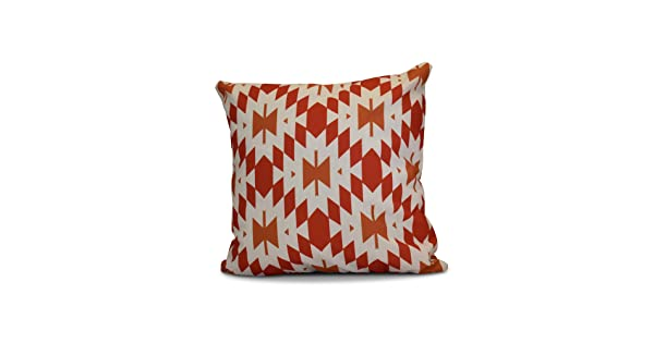 Geometric Print Pillow 20x20 Red Patna E by design PGN732OR18OR17-20 20 x 20-inch