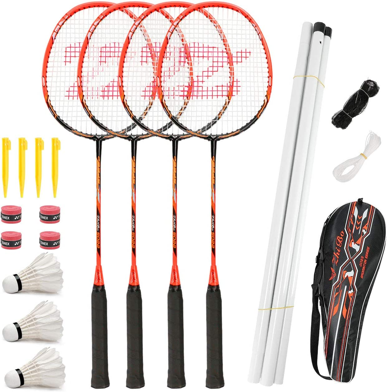 Fostoy Challenge the lowest price Badminton Racket Set 4 Sh Max 40% OFF with 3 Racquets Pack