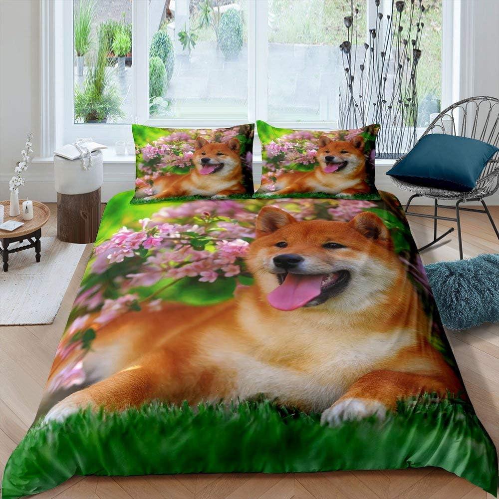 Sitting At the supreme price Dog Bloom Bedding Set Cove Comforter Plant Botanical