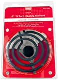 Smart Choice 5304431013 6-Inch 3-Turn Stove Burner Replacement Surface Element for Electric Coil Oven Ranges