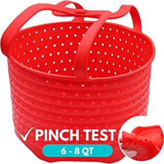 WaveLu Silicone Steamer Basket – [Pinch Tested] Instant Pot Accessory for Insta Pot 6 & 8 Quart IP, Ninja Foodi & Similar ...