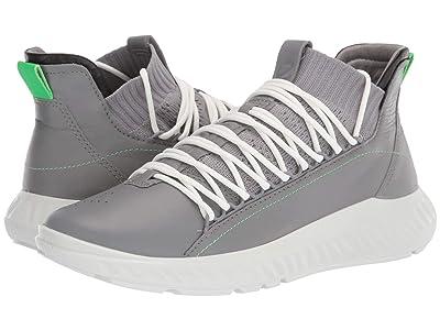 ECCO ST.1 Lite Mid Cut Sneaker (Wild Dove/Black/Wild Dove) Men