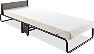 Jay-Be Inspire Folding Bed with Airflow Mattress and Headboard, Regular, Black/White