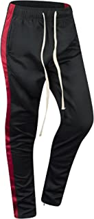 Mens Stripe Zip Pocket Track Pants Drawstring Made in The USA
