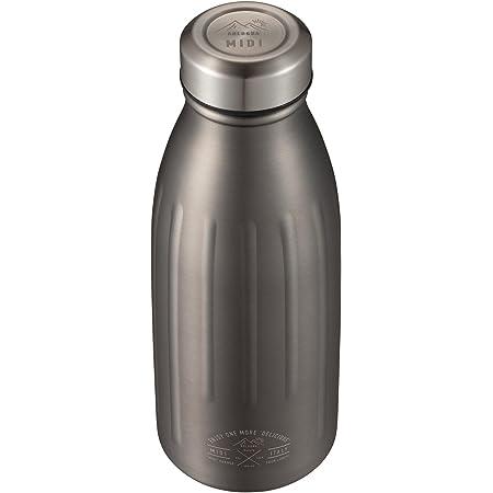 シービージャパン 水筒 グレー 直飲み 350ml テフロン加工 ステンレスボトル midi