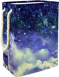 Vockgeng Galaxie étoilée Panier de Rangement pour la Maison Panier de Rangement imperméable Pliable de Jouets de Jouets de...