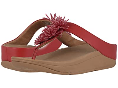 FitFlop Fino Bead Pom Pom (Adrenaline Red/Chipmunk) Women