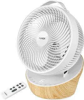 4UMOR Ventilateur de Table Ultra Silencieux avec Télécommande 20dB 1823m³/h Moteur DC Brushless 12 Vitesses 8h Minuterie T...