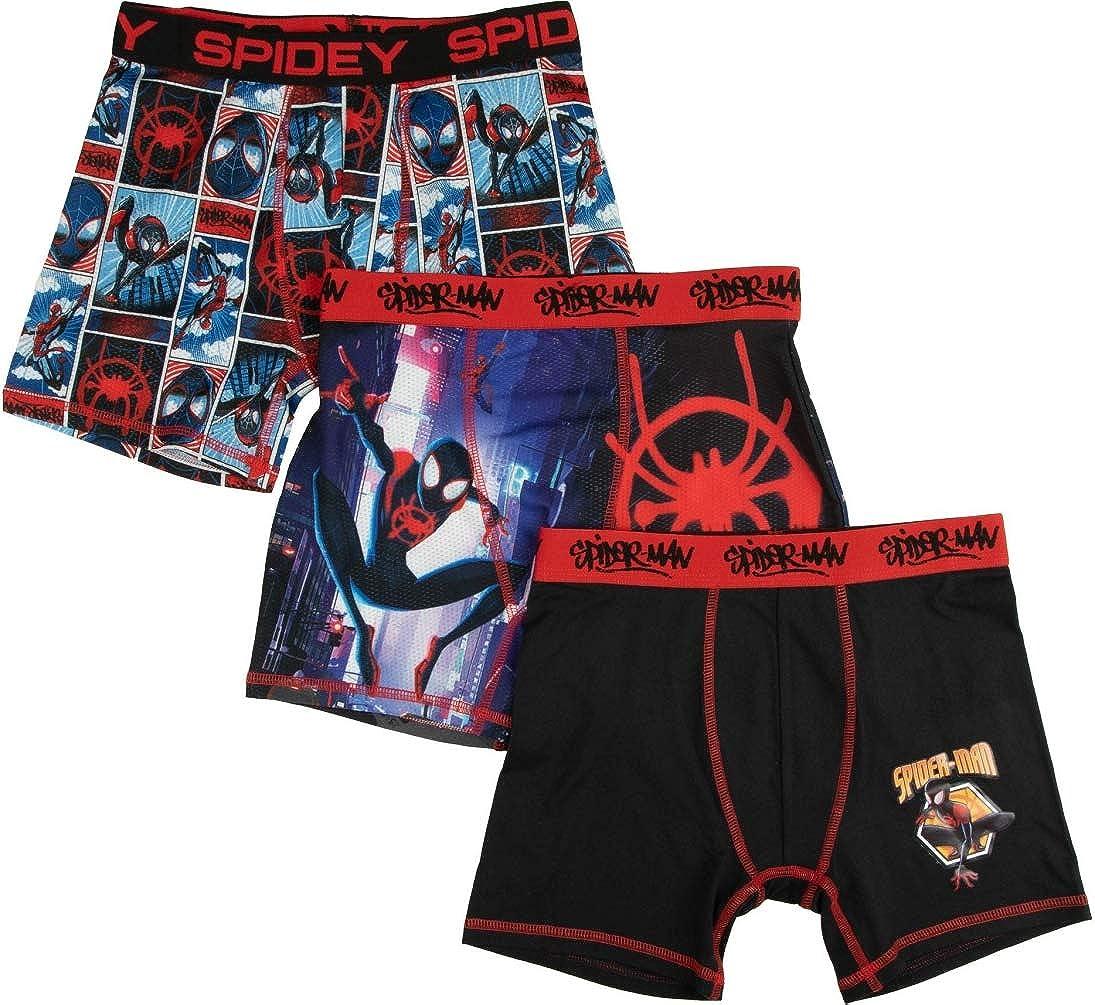 Boy's Athletic Boxer Briefs Spider-Man Spider-Verse 3Pk