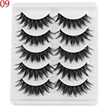 Multi Styles 5D Mink Hair Thick False Eyelashes Wispy Fluffy Curl Fake Lashes Extension Handmade Makeup Beauty Tool,9