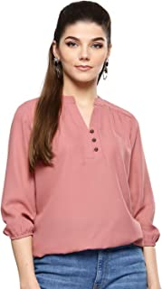 Harpa Women Round Neck Solid Top