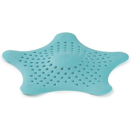 UMBRA Starfish. Filtre à bonde de douche et bain Starfish. Coloris bleu turquoise. Dimension 16.5x16.5x1.3cm.