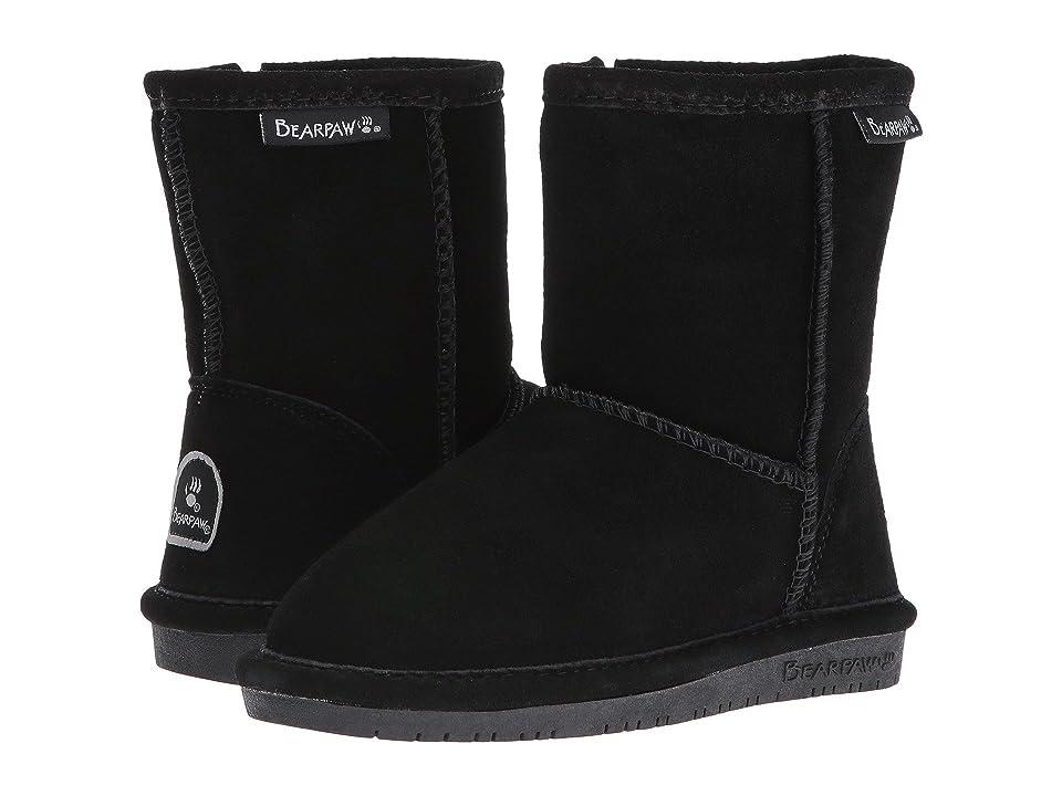 Bearpaw Kids Emma Zipper (Toddler/Little Kid) (Black) Girls Shoes
