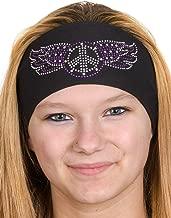 Skull Cap Head Wrap: Womens Headbands: Biker Chick Headwear: Peace Sign (3 Colors)