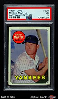 Best 1969 topps mantle psa Reviews