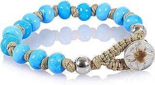 Braccialetti Donna, Uomo, Bambino - Nené Italy, braccialetto artigianale, con Perle in Vetro, Lavorato a Lume di 7mm, Made...