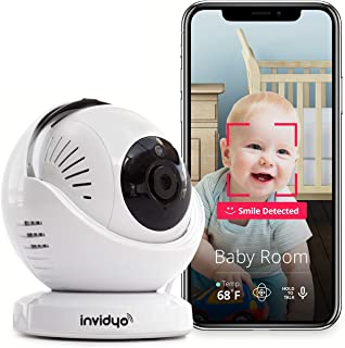 invidyo - WiFi Baby Monitor with Live Video and Audio | Cry Detection & Stranger Alerts | 1080P Full HD Camera, Night Visi...