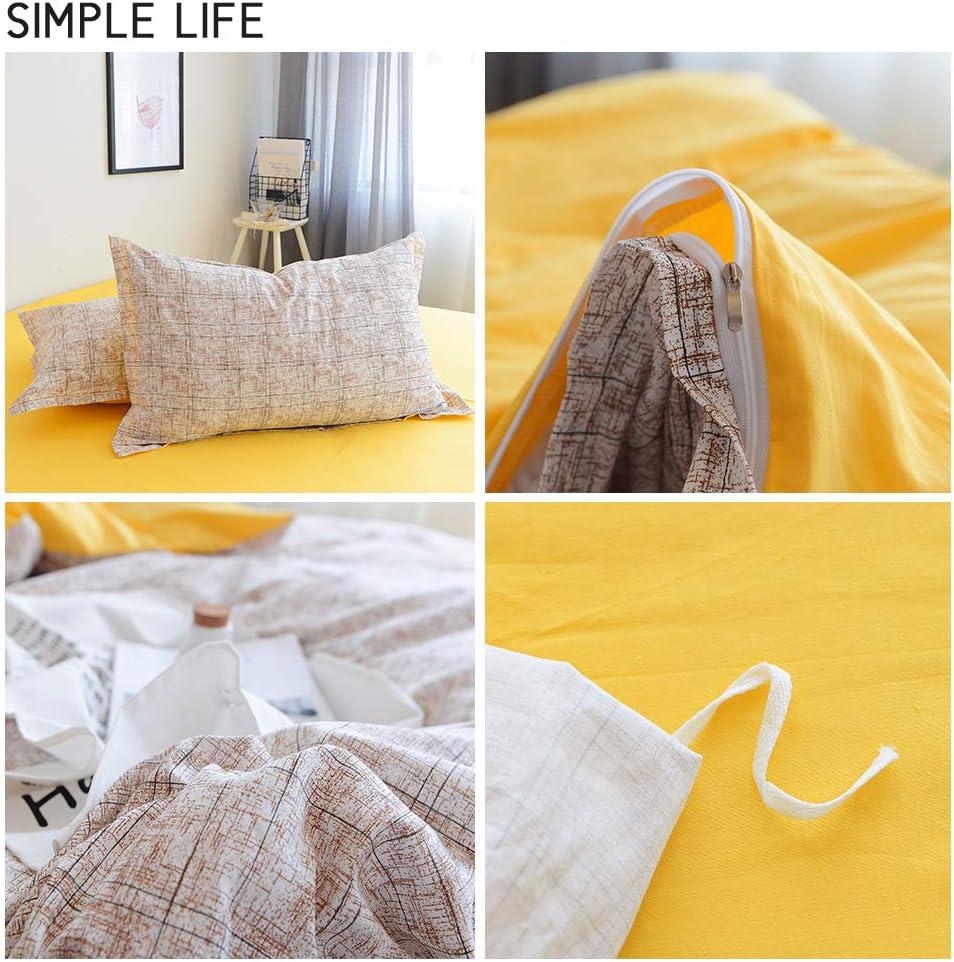 VM VOUGEMARKET Geometric Duvet Cover Set King 100/% Cotton 3 Pieces Triangle Pattern Bedding Set,Lightweight Reversible Duvet Cover with Zipper