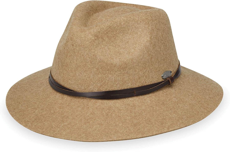 Wallaroo Hat Company Women's Aspen Fedora – Stylish Sun Protection, UPF 50+, 100% Wool Felt, Adjustable, Packable